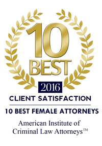 Katie Walsh awarded Top 10 Best Female Attorneys by  American Institute of Criminal Law Attorneys